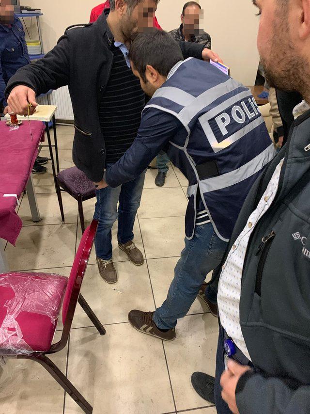 Kars polisinden kumar ve tombala operasyonu
