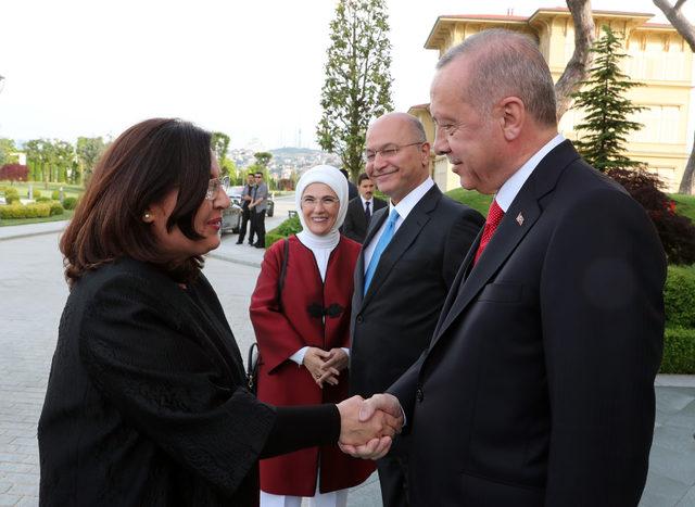 Erdoğan Irak Cumhurbaşkanı Berham Salıh'i kabul etti