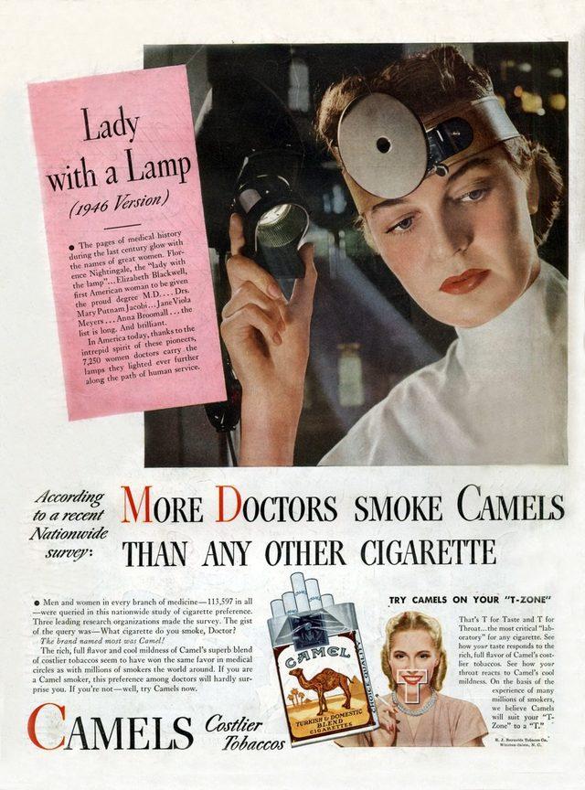 Camel, doktorların tercih ettiği sigara markası olduğunu iddia etti