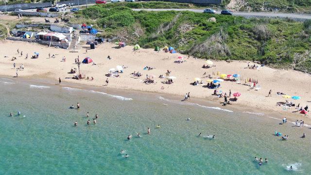 Kısırkaya plajının havadan fotoğrafları