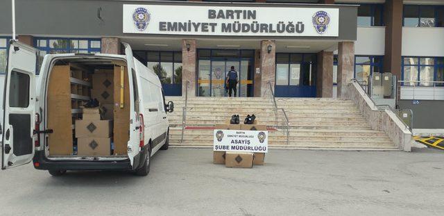 80 koli ayakkabıyı çalan hırsızlar yakalandı