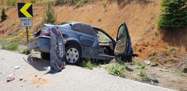 Kütahya'da otomobil takla attı: 1 ölü, 4 yaralı