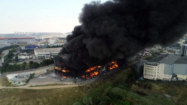 Çayırova'daki tekstil fabrikasında yangın (2) - Yeniden