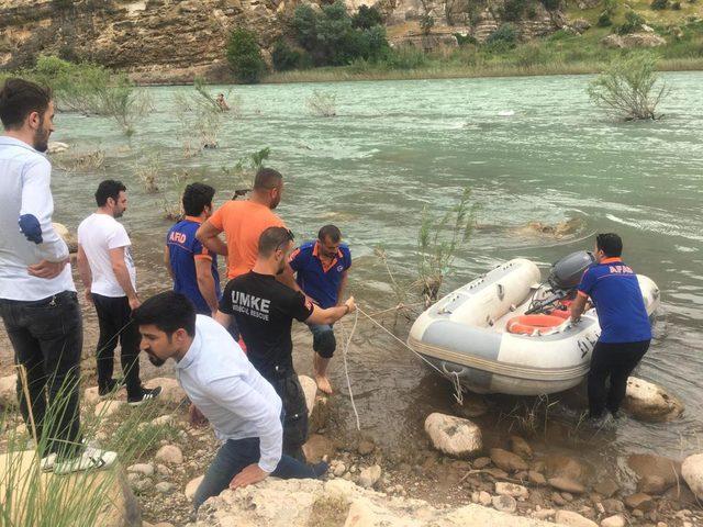 Yüzerek nehrin karşısına geçmek isteyen kişiyi AFAD kurtardı