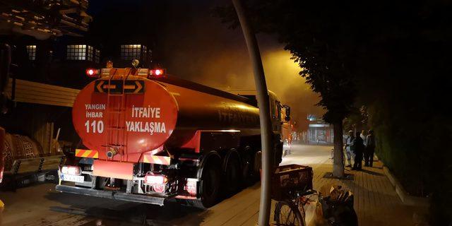 Bursa'da tarihi handa korkutan yangın
