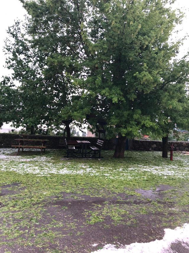 Konya'da dolu yağışı etkili oldu