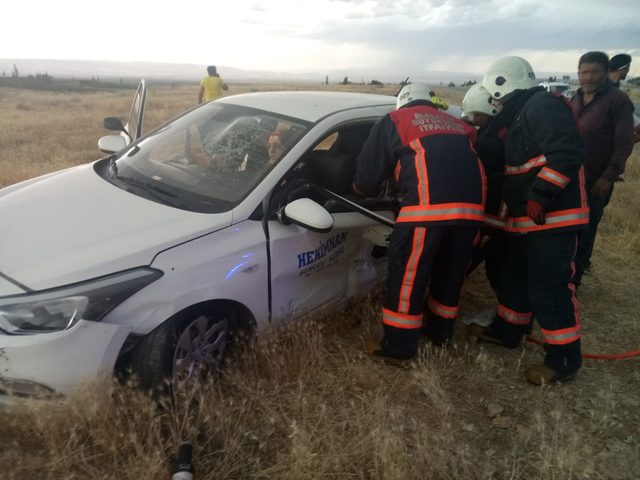Malatya'da iki otomobil çarpıştı: 5 yaralı