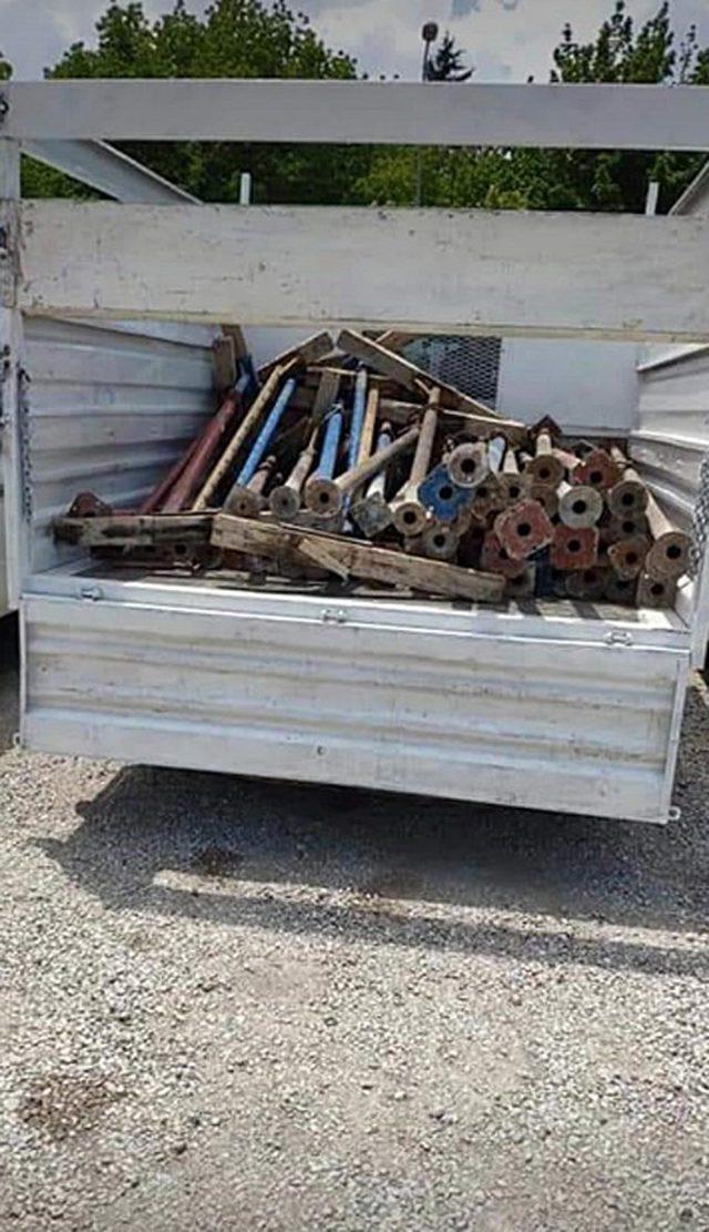 İnşaat malzemesi çalan 3 kişi tutuklandı