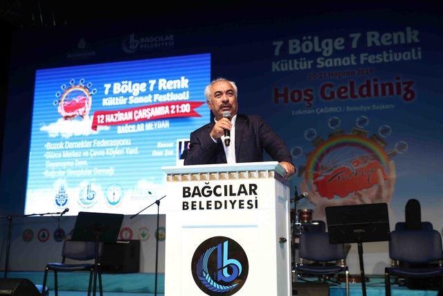 7 Bölge 7 Renk Festivali'nde birlik ve beraberlik mesajı verildi