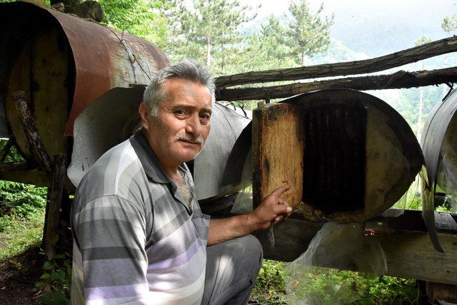 Asırlık kovanlarda bal üretimi yapıyorlar