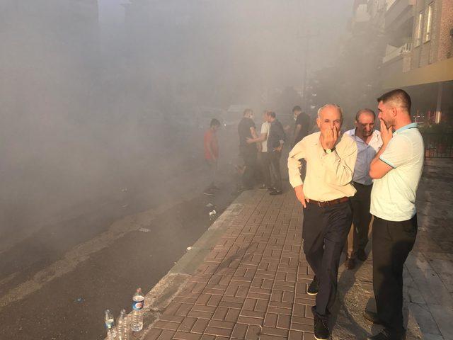 Şanlıurfa'da iş yeri yangını