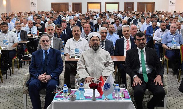 Diyanet İşleri Başkanı Erbaş, hac kafilesi başkanlarıyla bir araya geldi