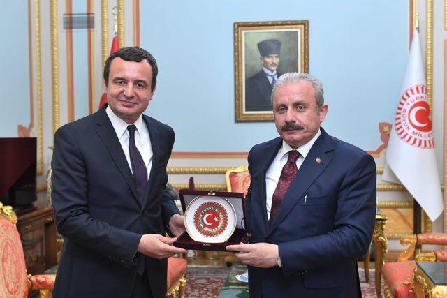 TBMM Başkanı Şentop, Kosova heyetini kabul etti