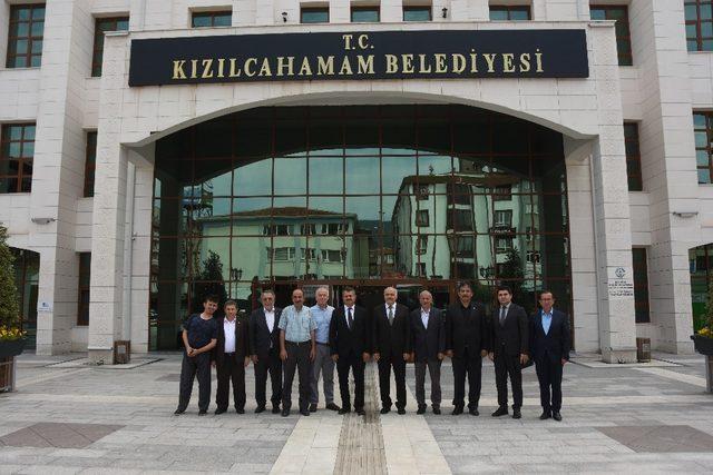 Azerbaycan Büyükelçisi'nden Kızılcahamam Belediye Başkanı Acar'a ziyaret