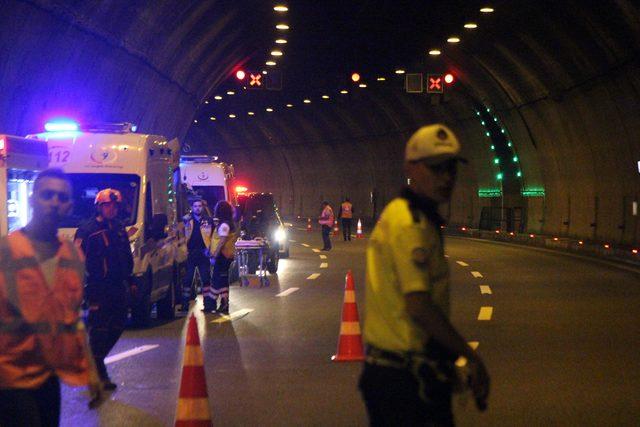 Bolu Dağı Tüneli'nde kaza tatbikatı