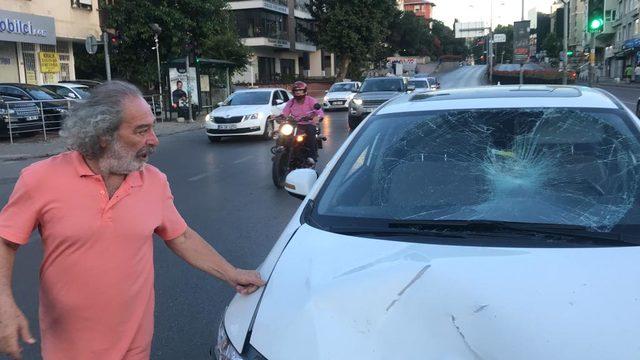 Ünlü oyuncunun çarptığı motosiklet sürücüsü ağır yaralandı(Geniş Haber)