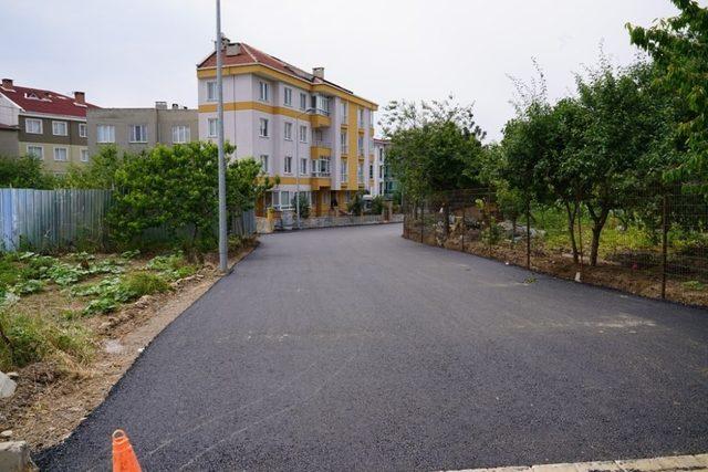Çorlu Belediyesi asfaltlama çalışmalarını sürdürüyor