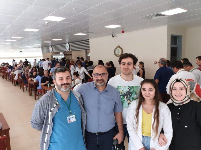 Hastane çatı restoran kafe açıldı