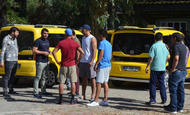 Serik'te taksiciler kontak kapattı, turistler şaşırdı