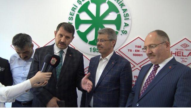 Sivas Valisinden Kayseri Şekere Ziyaret