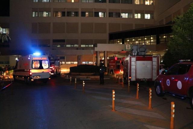 Akdeniz Üniversitesi Hastanesi'nde yangın paniği