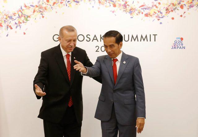 Cumhurbaşkanı Erdoğan, Endonezya Cumhurbaşkanı Widodo ile görüştü