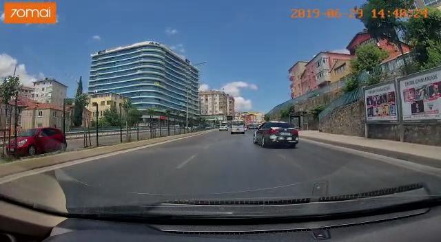 Pendik'te trafik magandası kamerada