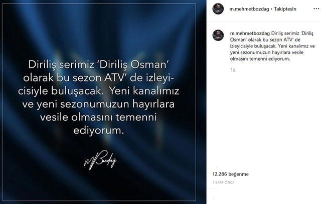 diriliş osman hangi kanalda yayınlanacak yapımcısı açıkladı ile ilgili görsel sonucu