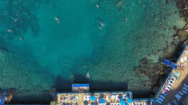 Falez plajlarına yoğun ilgi