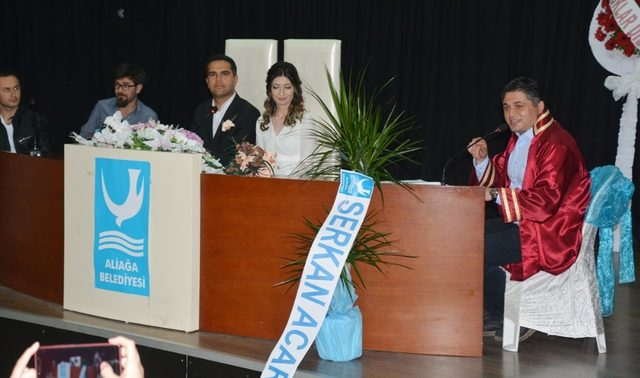 Aliağa'da son 6 ayda 229 çift nikah masasına oturdu