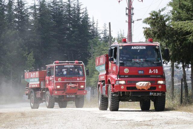 Kahramanmaraş'ta orman yangınlarıyla mücadele