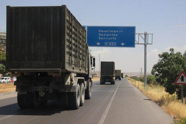 Suriye sınırına, fırtına obüs, topçu bataryası sevkiyatı yapıldı