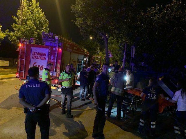 Tuzla'da otomobil takla atıp duvara çarptı: 1 ölü