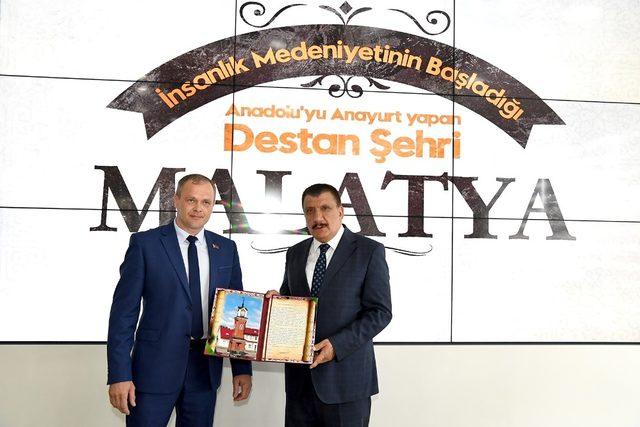 Başkan Gürkan, Belarus heyetini kabul etti