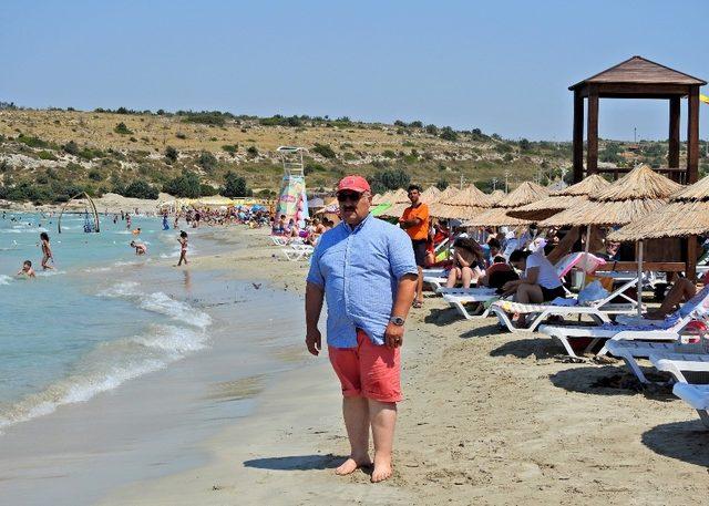 Terlemeden güneşlenilen plaj: Pırlanta