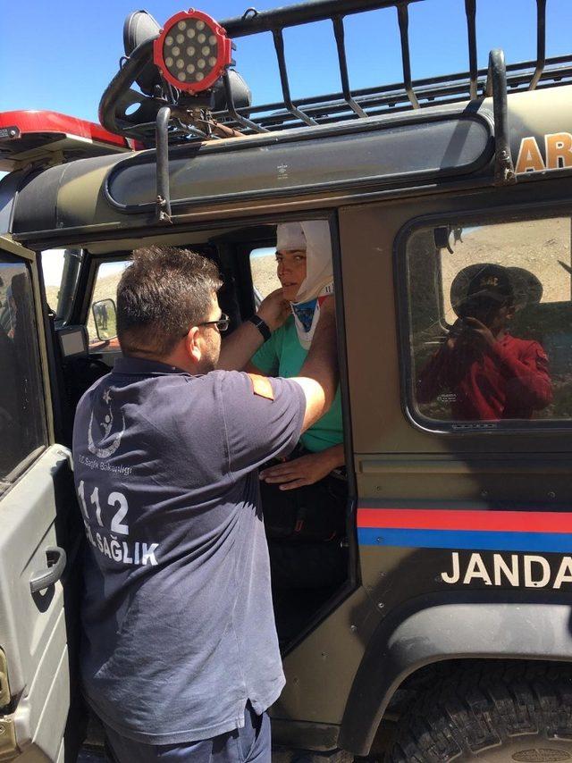 Erciyes Dağı'nda yaralanan dağcı tedavi altına alındı