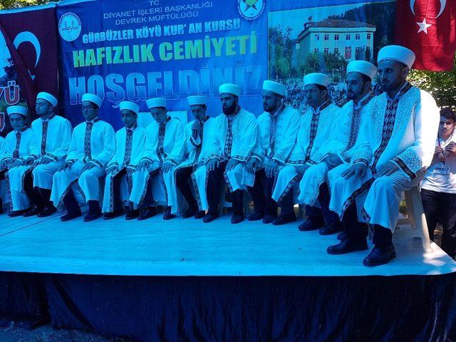 Gürbüzlerr köyünde 27. hafızlık cemiyet programı