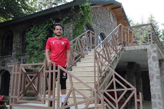 Samsunsporlu futbolcudan rakiplere gözdağı