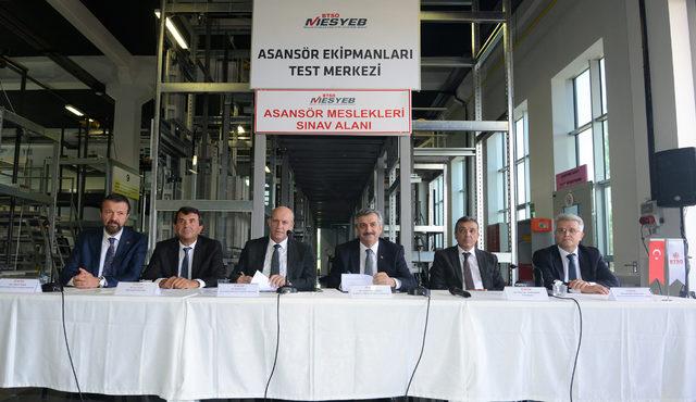 Asansör güvenlik aksamlarının testi için işbirliği