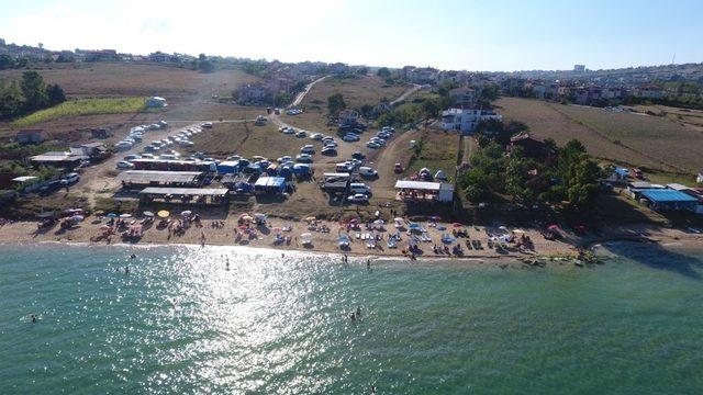 Sinop'ta Kurban Bayramı'nda sahiller doldu taştı