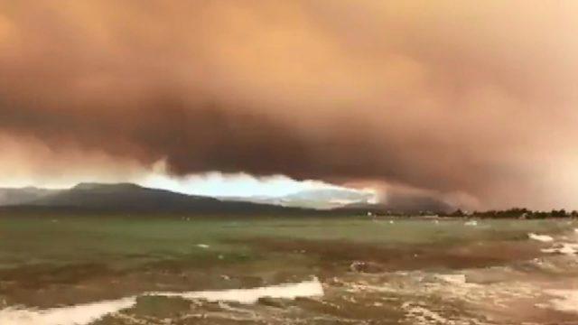 Yunanistan'da yangın… Avrupa'dan yardım geldi