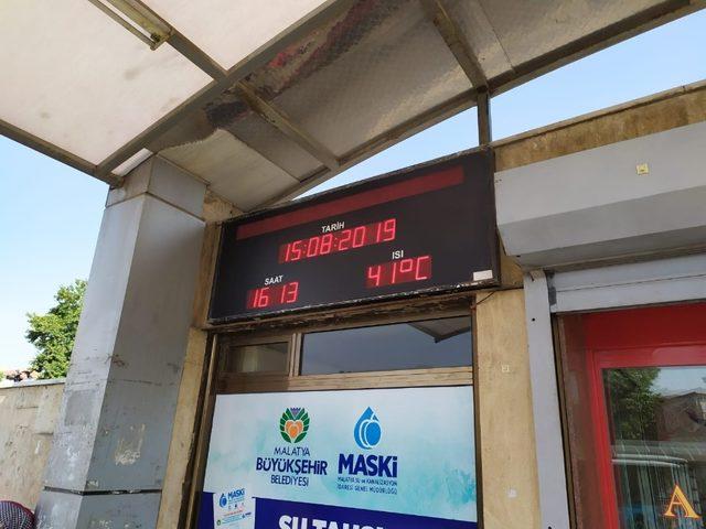 Malatya'da termometreler 41 dereceyi gösterdi