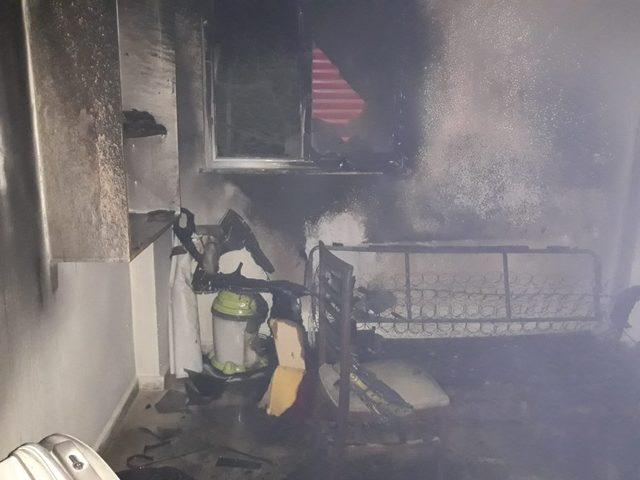 Kahramanmaraş'ta muhtarlık binasında yangın
