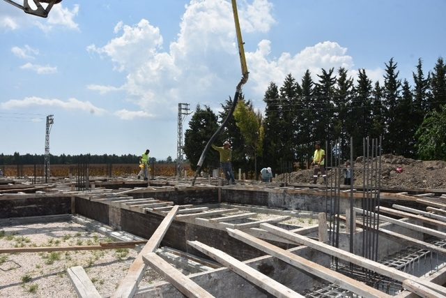 Başkan Aydar taziye evinin temelini attı
