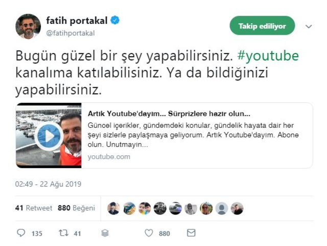 fatıh portakal youtube