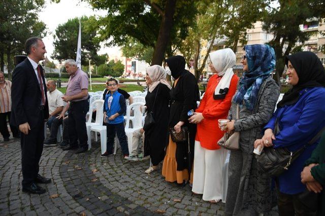 İnegöl'de mahalle buluşmaları Hamidiye ile devam etti