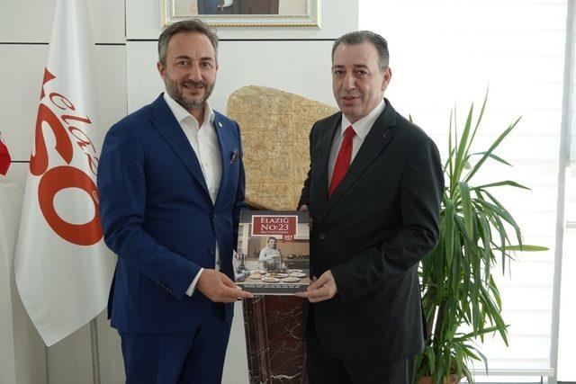 Bakan Aydın Maruf, Elazığ TSO Başkanı  Arslan'la bir araya geldi