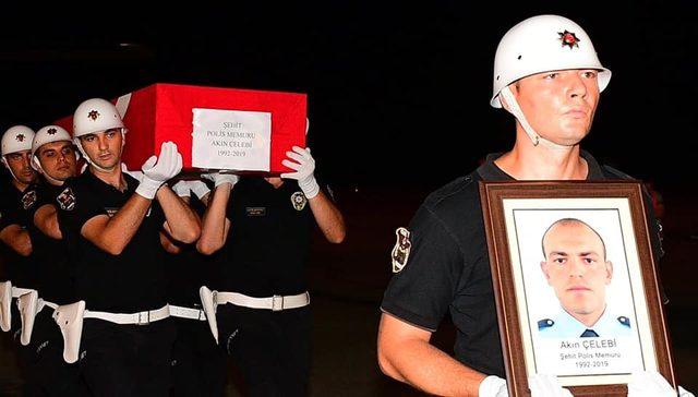 Şehit polisin naaşı memleketi Trabzon'a getirildi
