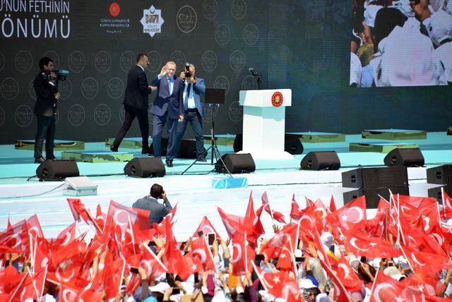 Erdoğan: Suriye sınırını temizleme kararlılığımızı kimse test etmesin