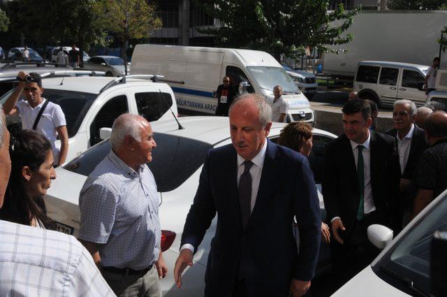 Muharrem İnce, görevden alınan Ahmet Türk'ü ziyaret etti